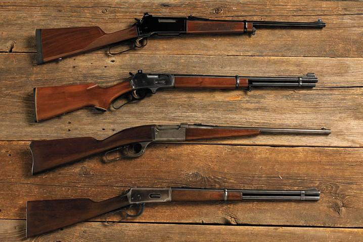 The lever-action rifle