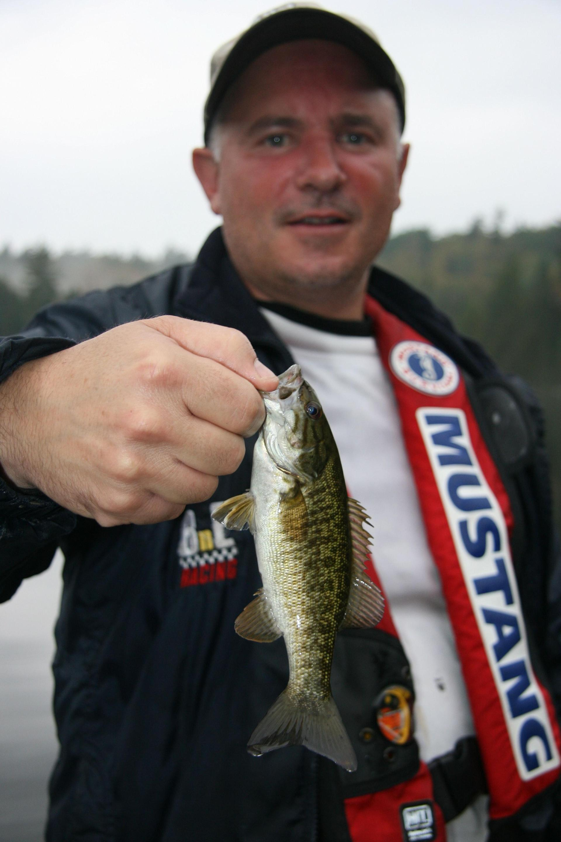 Beauchene baby: Billy Shields and one of the plentiful small fish