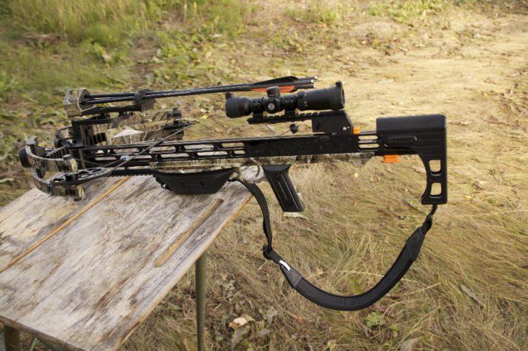 Assembled crossbow