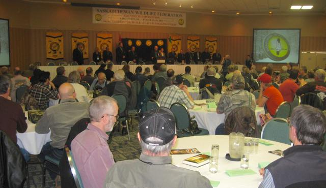 SWF delegates discuss invasive species and management issues. Credit: SWF.