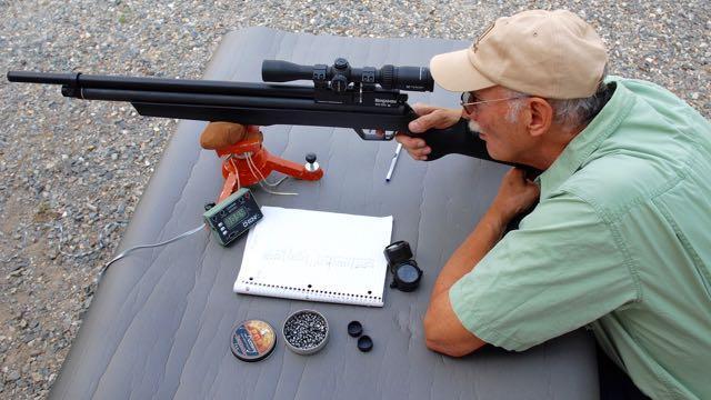 The author range tests the Marauder. Credit: Mark Hoffman.