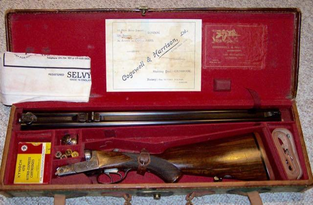 Cogswell & Harrison double rifle in .470 Nitro Express with a boxlock action