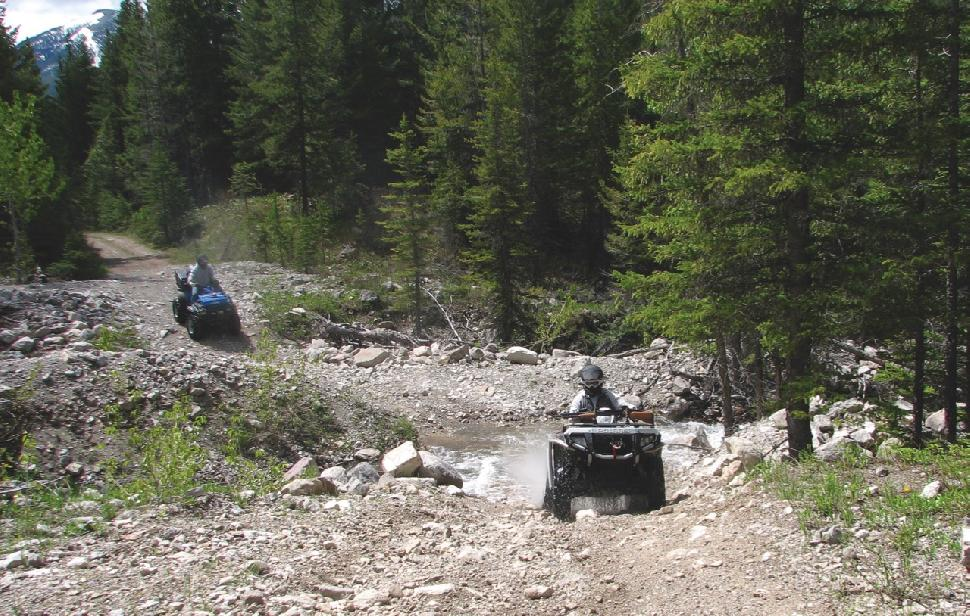 Credit: Brian Dingreville. Alberta aims to ban all ATVs in the Castle area.