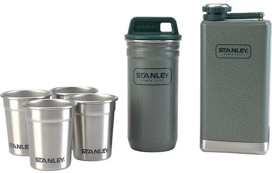 Stainless Steel Shot Glass Set + Flask