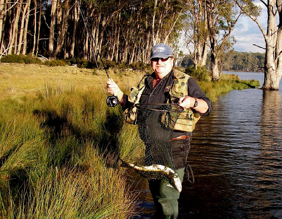 "Australian fly fishing legend, Ken Orr relies on Tonic sunglasses to spot cruising fish when he is ""polaroiding"" for trout"