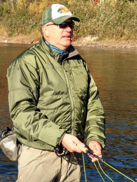Credit: Patrick Walsh. Héroux works the Cains River.
