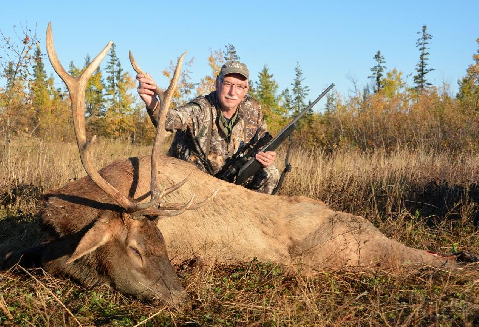 Credit: Ken Bailey. The author's 5x5 bull elk, taken on the first evening of his Saddle Hills hunt.