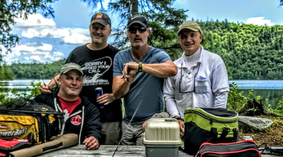 Credit: Jon Baker The Beauchêne 2017 crew: (left to right) Gord Browning, Patrick Walsh, Jon Baker and Billy Shields