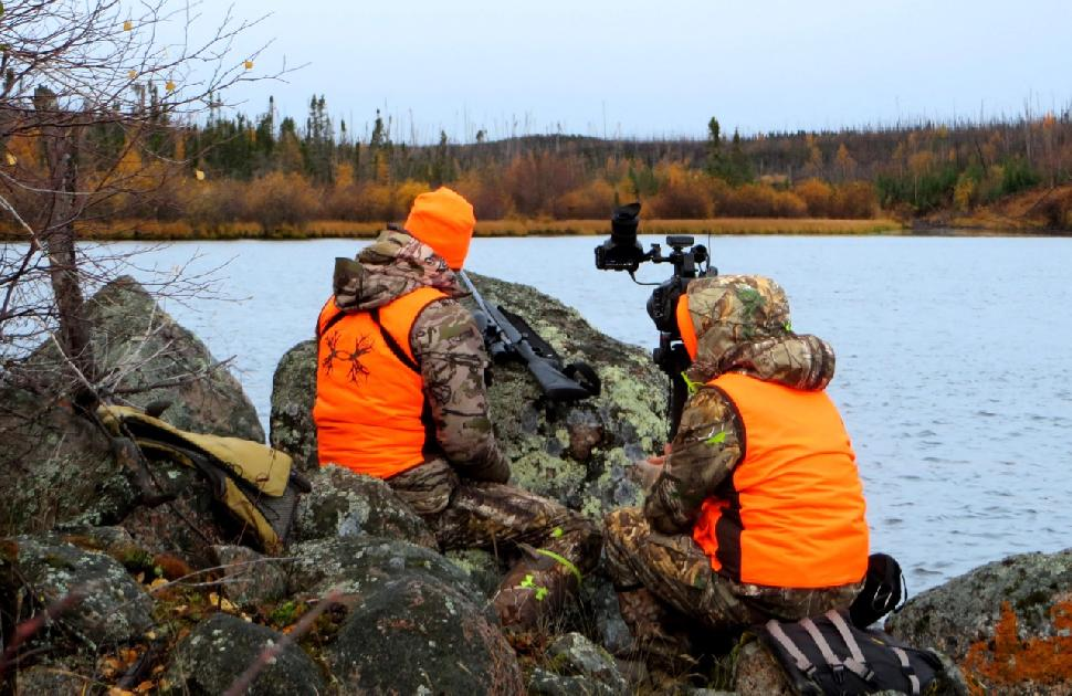 Filming the hunting action. Credit: Adrian Skok.