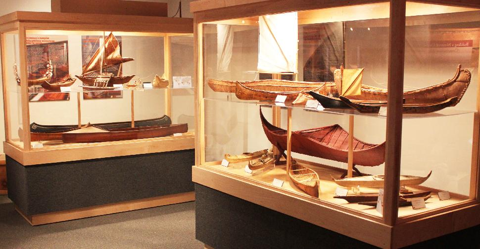 Credit: Canadian Canoe Museum. Many vintage canoes are on display.