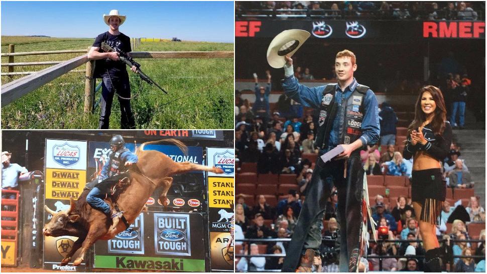 Bull rider and deer hunter Tanner Byrne