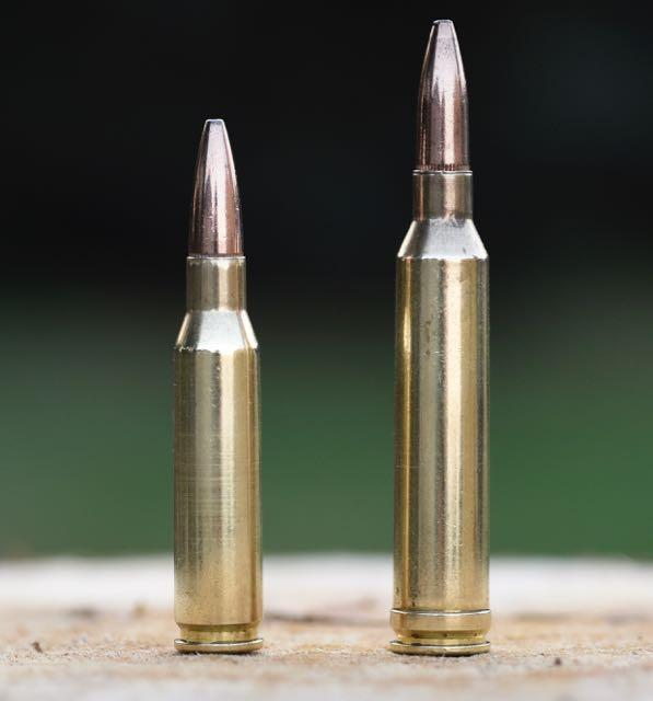 Both of these use 7mm bullets, but the 7mm-08 (left) is a better choice than the more powerful 7mm Rem. Mag. Credit: Lowell Strauss.