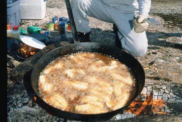 Bacon-Wrapped Mustard Walleye