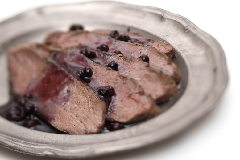 Blueberry Bourbon Venison