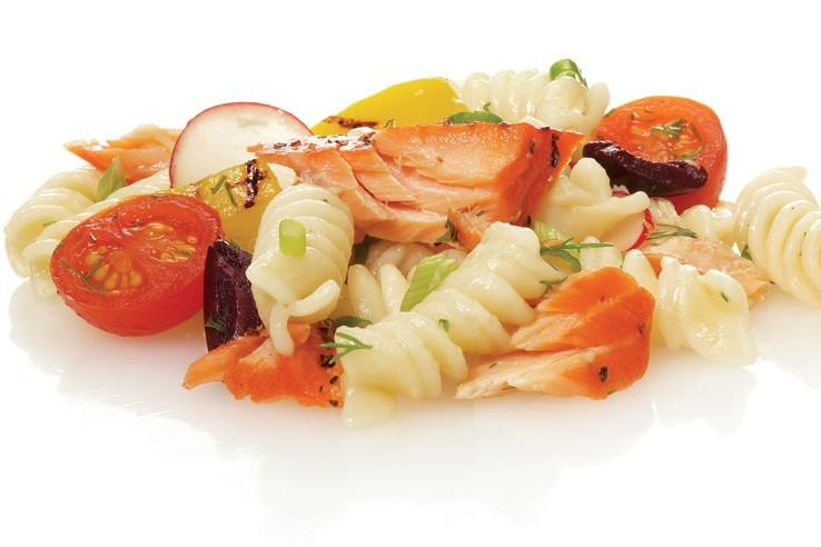 Salmon pasta salad outdoor canada for Ice fishing youtube