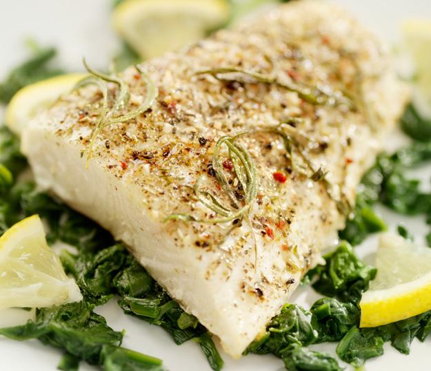 Lean fish with spices