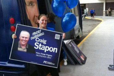 The sign says it all Craig Stapon, The Fishin' Politician. Ya' got to love it!