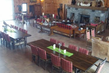 Now that's a hunt camp! The well-appointed club house at Run-A-Fowl.
