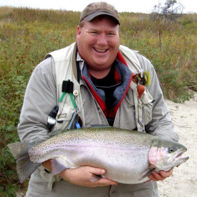 Chubby rainbow trout