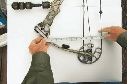 Simple measurements will help when it's time to reassemble and tune your bow.