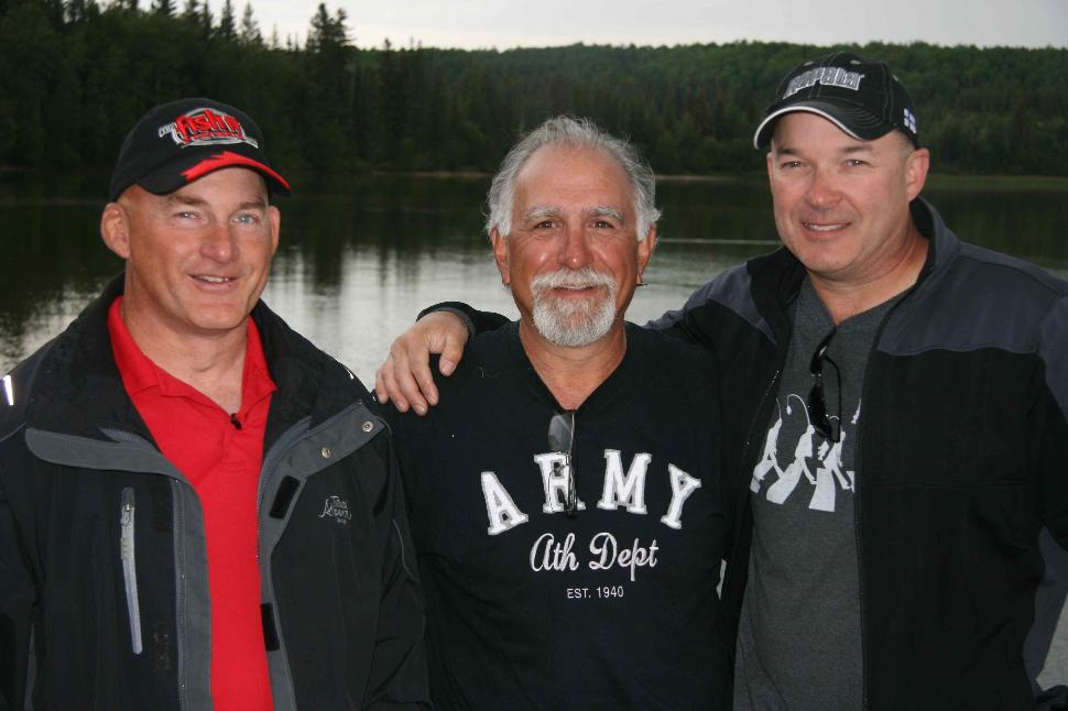 Fish'n Buddies: Alberta's Ray Kohlruss, Fish'n Canada's Angelo Viola and yours truly
