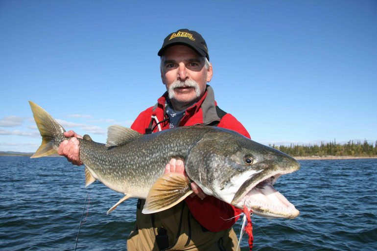 Nice fish: John Cleveland hoists his big fish of day 3