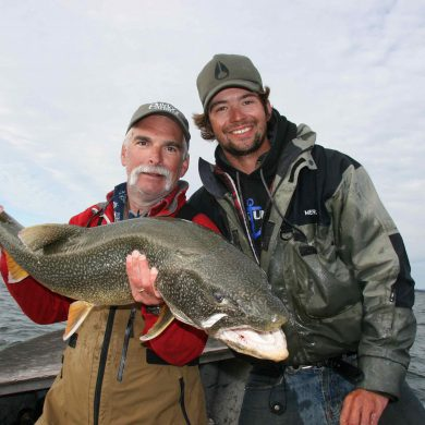 Another record: John and guide Kelly with John's 41-incher on 12-pound tippet