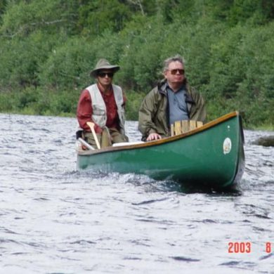 Breckenridge doing what he loved most--fishing for Atlantic salmon