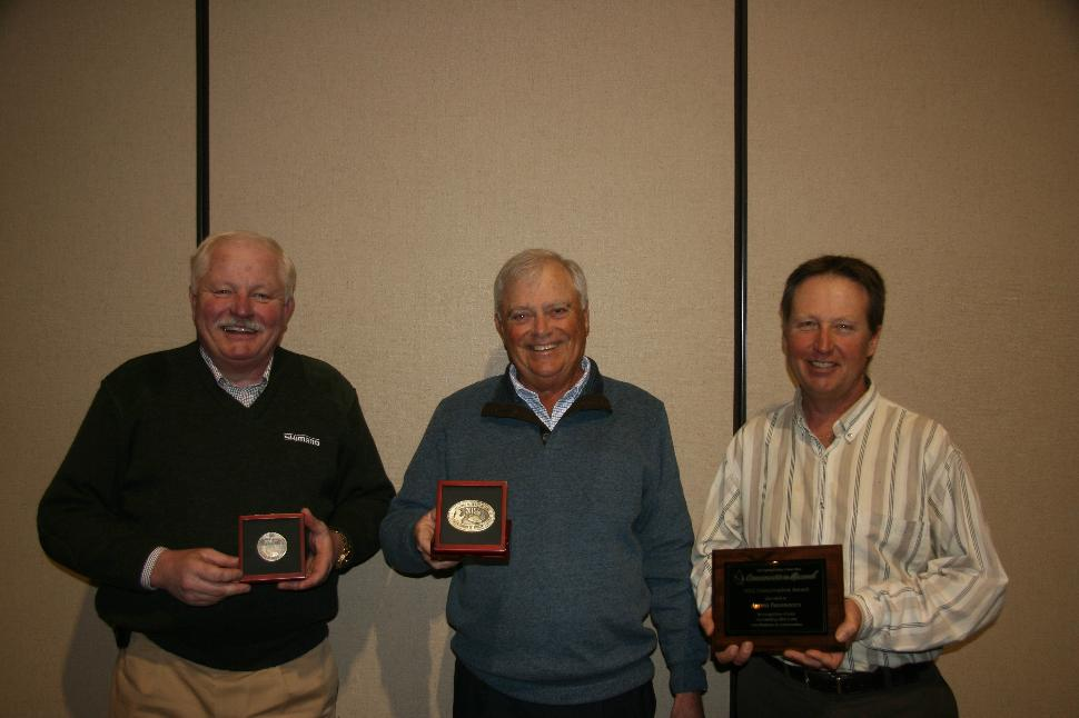 Well received: (from L to R) Phil Morlock, Rick Morgan and Wil Wegman with their awards