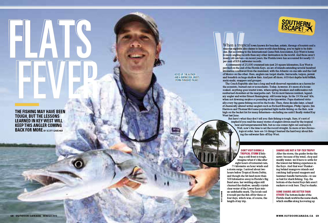 Associate Editor Scott Gardner's 2nd place win in the Magazine Feature Fishing category