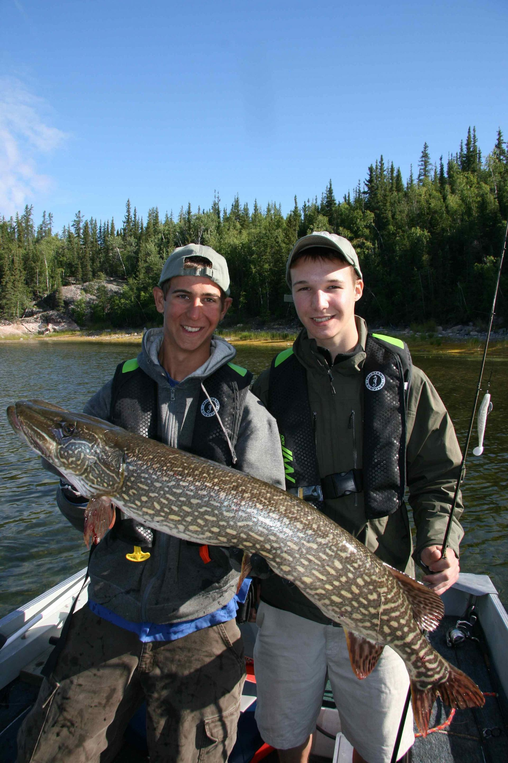 Helping hands: Guide Garrett and Riley with my 41-inch northern