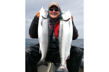 How to rig an anchovy for salmon and trout