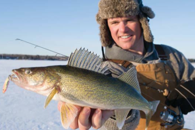 How to find and catch big walleye at first ice