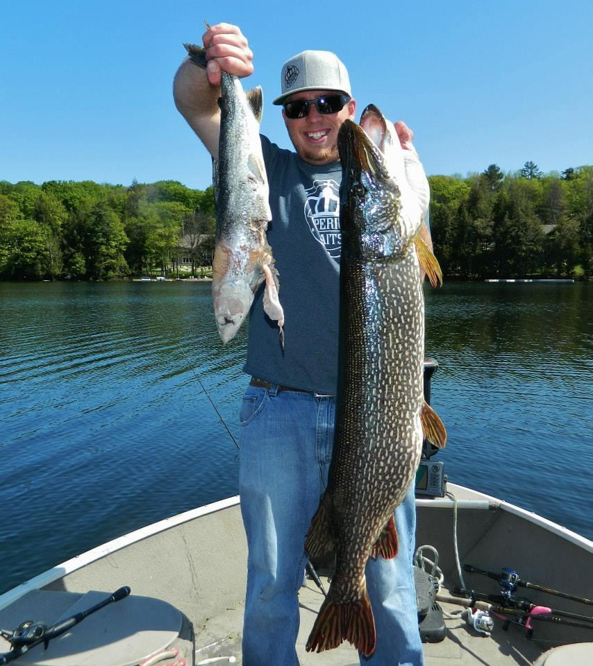 You bet pike are opportunistic feeders, as Steve Rowbotham found out when he discovered this lake trout in the throat of a dandy pike