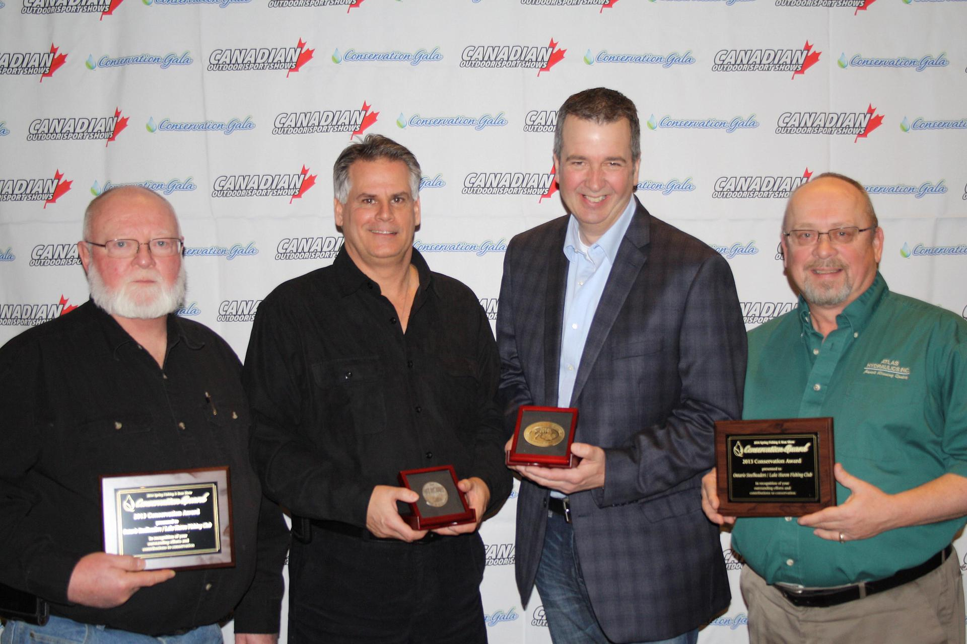 Award winners (L to R): Brian Garnet, Bruce Tufts, Patrick Campeau and Karl Redin