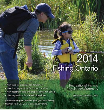 The Ontario Fishing Regulations Summary for 2014. Conservation Officers have powers of inspection, arrest, search and seizure.