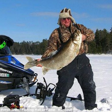 A 52-pound lake trout from Ontario's Lax La Croix. Unfortunately, it was illegally retained, and the Minnesota angler may face wildlife charges.