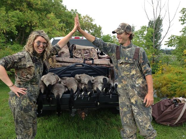 Her first field goose hunt