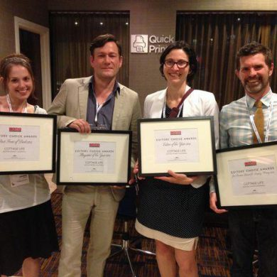 Winning team: On hand to pick up the honours at last night Editors' Choice Awards were Cottage Life's (left to right) Jackie Davis, Martin Zibauer, Lian Bobechko and Blair Eveleigh