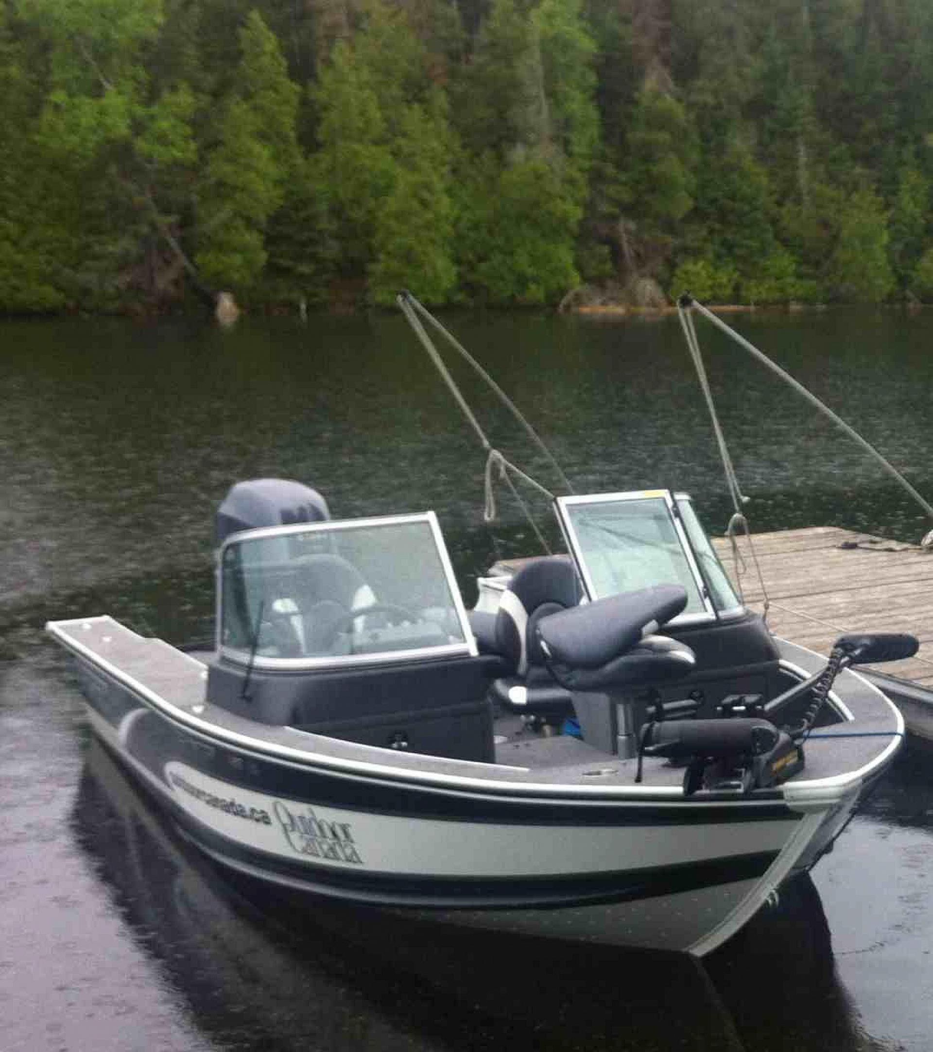 Outdoor Canada's new Alumacraft Dominator 185 LD, at the ready