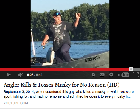The video of a man killing a muskie sparked outrage in the angling community when it first appeared on YouTube.