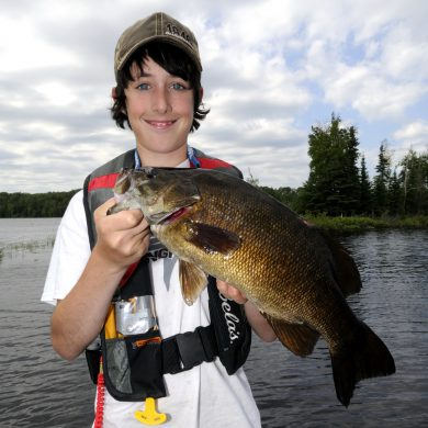 In the spring, guarding male smallmouth bass will stop eating but will absorb water through their skin in oder to make them look big and intimidating to any potential intruders