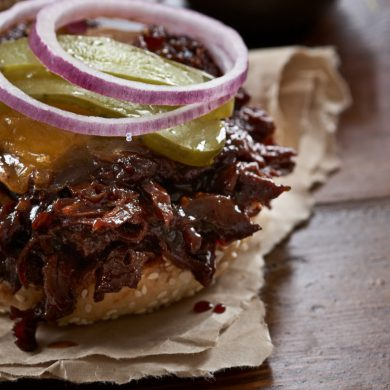 Southern-style pulled venison