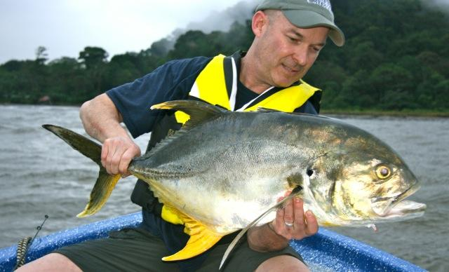 The author with his first jack crevalle. Credit: Patrick Walsh.