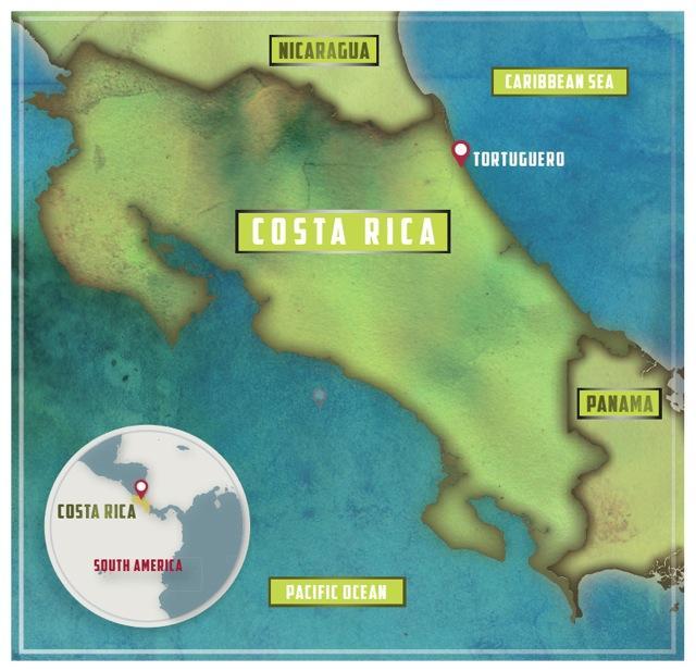 Toucan & Tarpon Lodge is located at Tortuguero, on Costa Rica's Caribbean coast. Credit: Sandra Cheung.