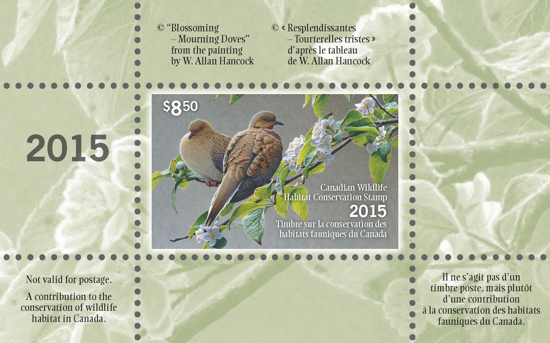 2015 Wildlife Habitat Conservation Stamp by W. Allan Hancock