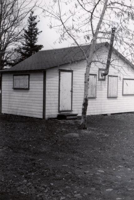A rustic fishing cabin, circa 1940. Credit: Ray Hines.