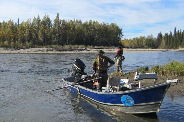 H20 specializes in fly tackle, and guiding via jet and drift boat (above).