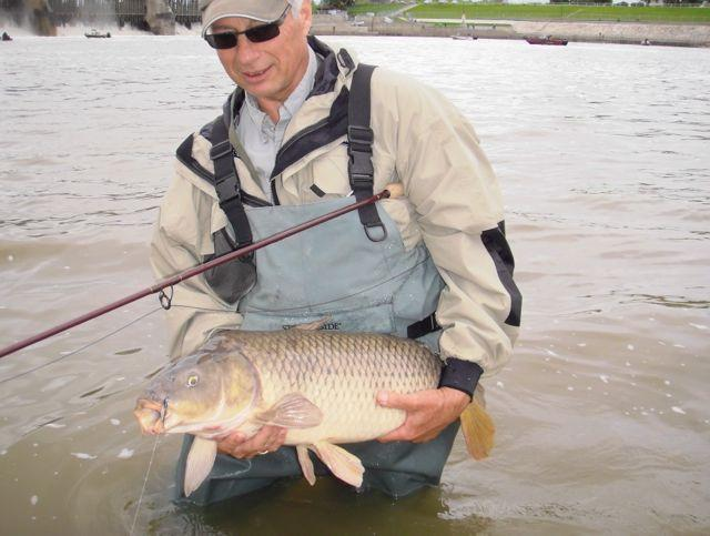 Credit: Gord Pyzer. Carp hoover up small nymph, streamer and crayfish flies in sizes 8 to 12.