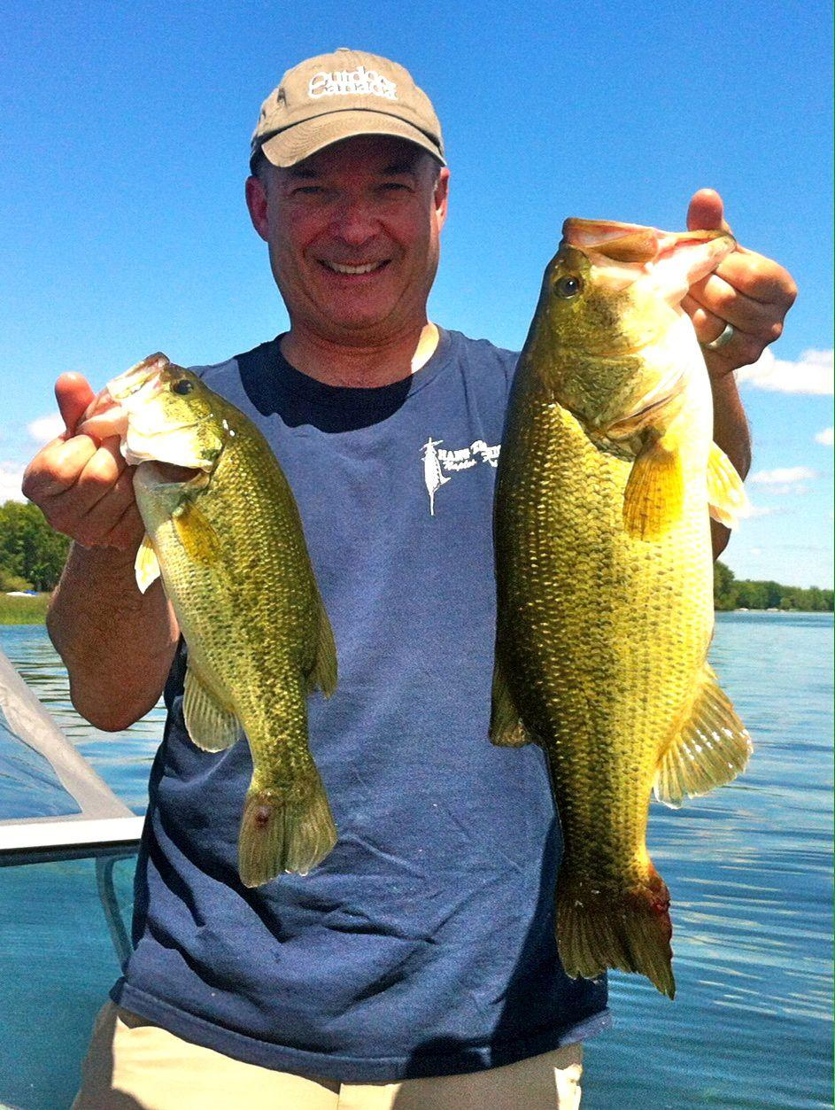 Editor-in-chief Patrick Walsh and some nice Lake Simcoe largemouths.